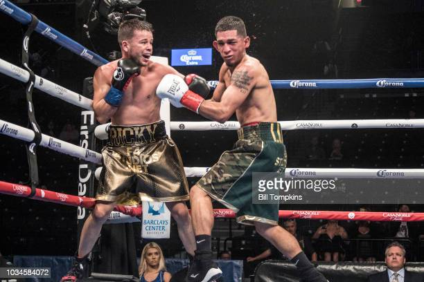 Ricky Lopez defeats Ramsey Luna by Unanimous Decision in their WBC Featherweight fight at Barclays Center on September 8 2018 in New York City