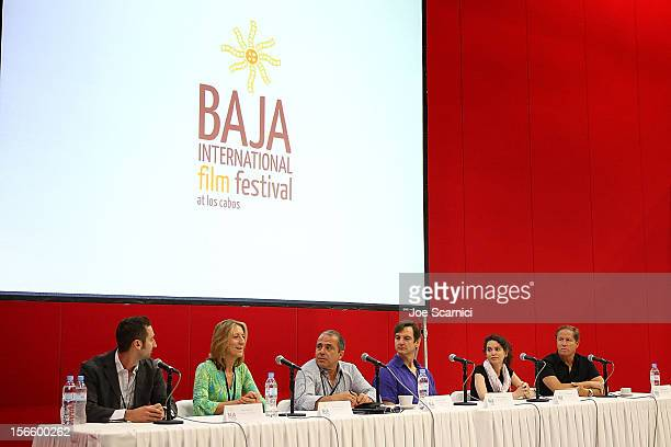 Ricky Margolis Mimi Steinbauer Bahman Naraghi William Mapother Carrie Rothbart and Daniel Diamond speak at the Financing Panel at the Los Cabos...