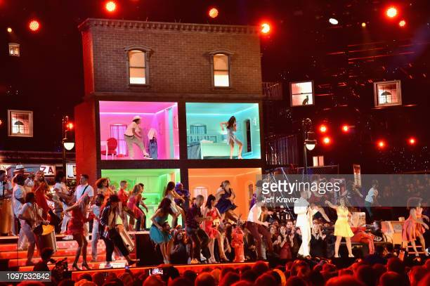 Ricky Martin and Camila Cabello perform onstage during the 61st Annual GRAMMY Awards at Staples Center on February 10 2019 in Los Angeles California
