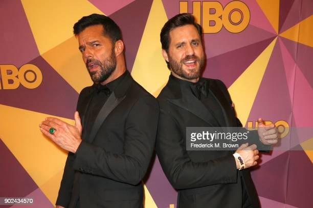 Ricky Martin and Edgar Ramirez attend HBO's Official Golden Globe Awards After Party at Circa 55 Restaurant on January 7 2018 in Los Angeles...