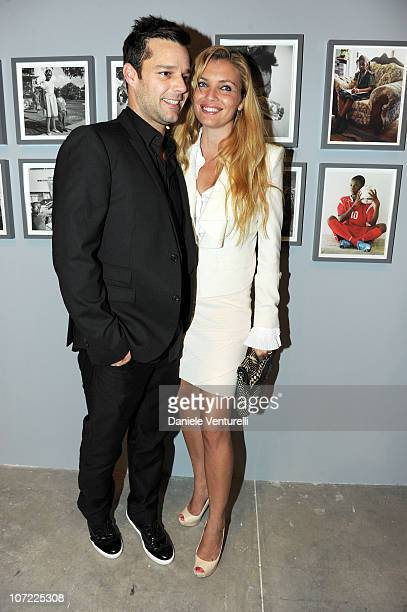 Ricky Martin and Esther Canadas attend the Moca Reception during Art Basel at the Museum of Contemporary Art on November 30 2010 in Miami Florida