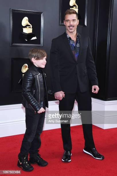 Ricky Martin and his son Matteo attend the 61st Annual GRAMMY Awards at Staples Center on February 10 2019 in Los Angeles California