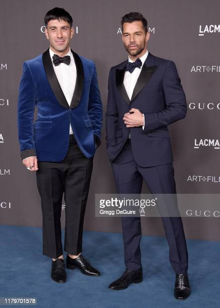 Ricky Martin and Jwan Yosef arrive at the 2019 LACMA Art Film Gala Presented By Gucci on November 2 2019 in Los Angeles California