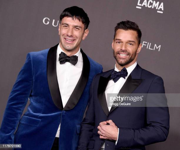 Ricky Martin and Jwan Yosef arrive at the 2019 LACMA Art + Film Gala Presented By Gucci on November 2, 2019 in Los Angeles, California.