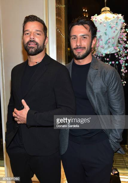 Ricky Martin and Jwan Yosef attend Giorgio Armani's celebration of 'The Shape of Water' hosted by Roberta Armani on March 3 2018 in Beverly Hills...