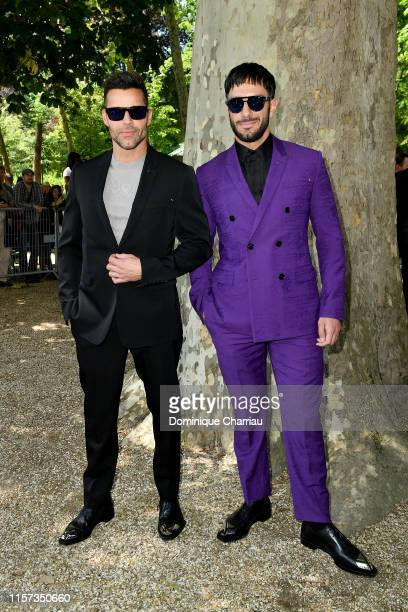 Ricky Martin and Jwan Yosef attend the Berluti Menswear Spring Summer 2020 show as part of Paris Fashion Week on June 21 2019 in Paris France