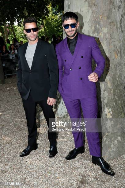 Ricky Martin and Jwan Yosef attend the Berluti Menswear Spring Summer 2020 show as part of Paris Fashion Week on June 21, 2019 in Paris, France.