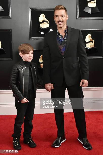 Ricky Martin and Matteo Martin attend the 61st Annual Grammy Awards at Staples Center on February 10 2019 in Los Angeles California