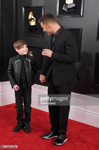 Ricky Martin and son attend the 61st Annual GRAMMY Awards at Staples Center on February 10 2019 in Los Angeles California
