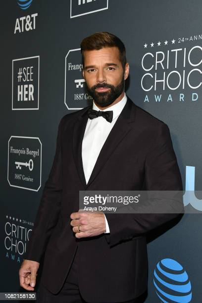 Ricky Martin at Claire Foy Accepts The #SeeHer Award At The 24th Annual Critics' Choice Awards The Barker Hanger on January 13, 2019 in Santa Monica,...