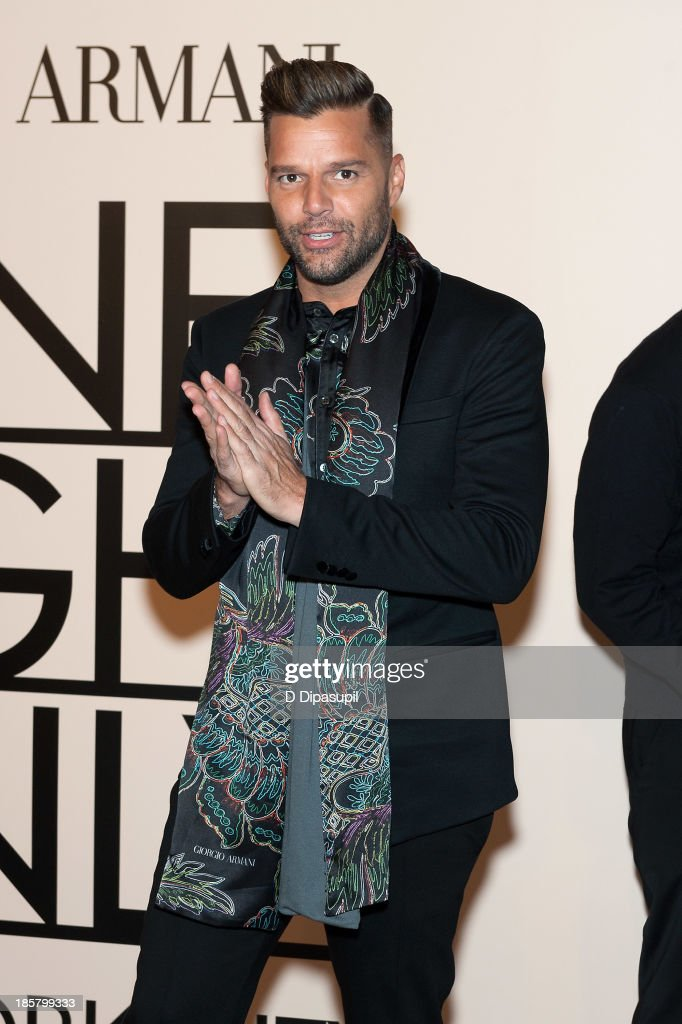 Ricky Martin attends Armani - One Night Only New York at SuperPier on October 24, 2013 in New York City.