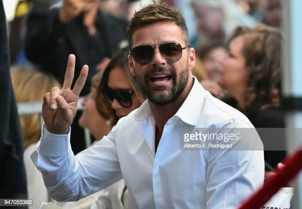 Ricky Martin attends as Eva Longoria is honored with star on The Hollywood Walk of Fame on April 16, 2018 in Hollywood, California.