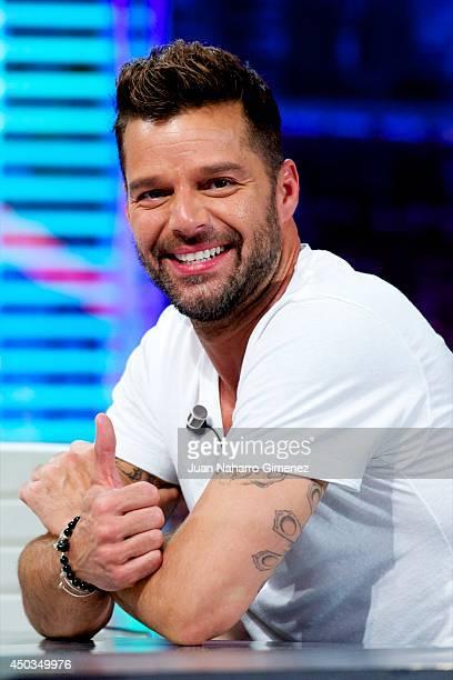 Ricky Martin attends 'El Hormiguero' Tv show at Vertice Studio on June 9 2014 in Madrid Spain
