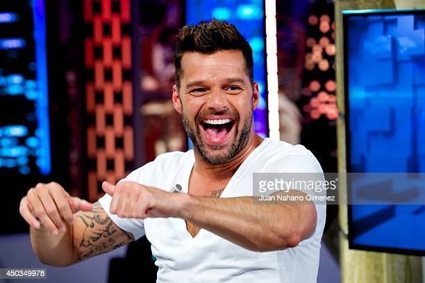 Ricky Martin attends 'El Hormiguero' Tv show at Vertice Studio on June 9, 2014 in Madrid, Spain.