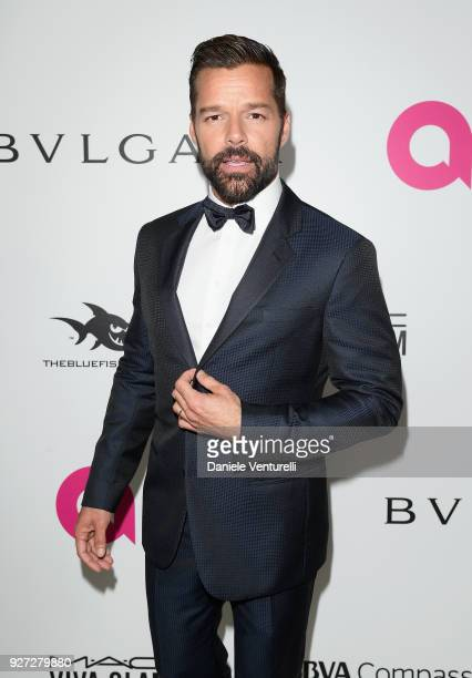 Ricky Martin attends Elton John AIDS Foundation 26th Annual Academy Awards Viewing Party at The City of West Hollywood Park on March 4 2018 in Los...