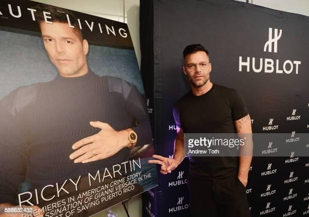 Ricky Martin attends Hublot and Haute Living's annual Hublot Loves Art dinner celebrating Richard Orlinski with Ricky Martin at Perez Art Museum...