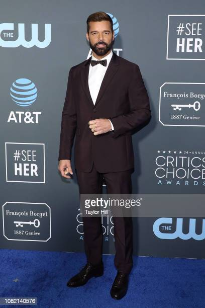Ricky Martin attends The 24th Annual Critics' Choice Awards at Barker Hangar on January 13 2019 in Santa Monica California