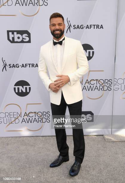 Ricky Martin attends the 25th Annual Screen Actors Guild Awards at The Shrine Auditorium on January 27, 2019 in Los Angeles, California.