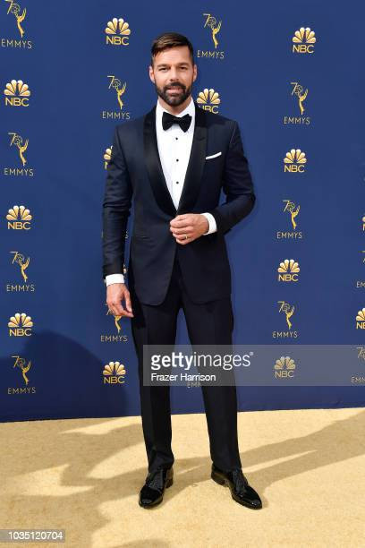 Ricky Martin attends the 70th Emmy Awards at Microsoft Theater on September 17 2018 in Los Angeles California