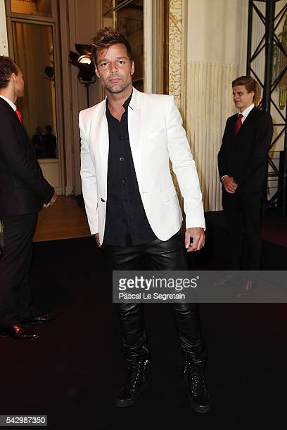 Ricky Martin attends the Balmain Menswear Spring/Summer 2017 show as part of Paris Fashion Week on June 25 2016 in Paris France