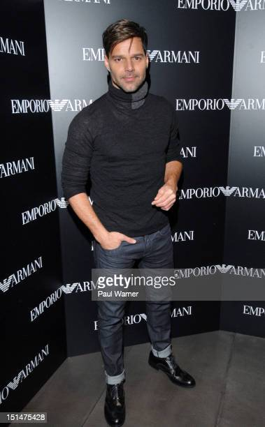 Ricky Martin attends the Emporio Armani New York Flagship Store Opening on September 7 2012 in New York City