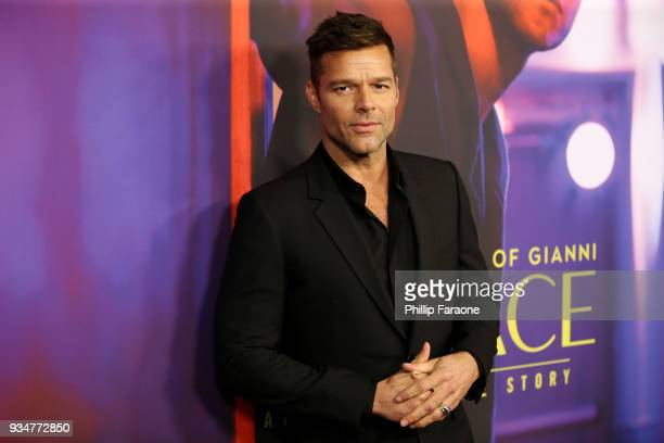 "Ricky Martin attends the For Your Consideration Event for FX's ""The Assassination of Gianni Versace: American Crime Story"" at DGA Theater on March..."