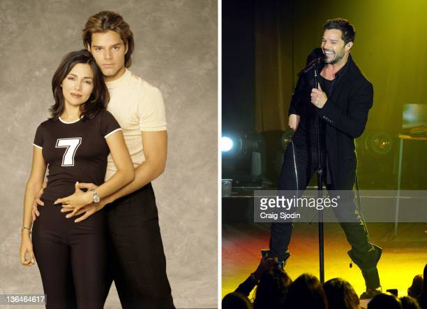 In this composite image a comparison has been made of actor Ricky Martin Many of today's leading Hollywood stars began their careers in daytime...