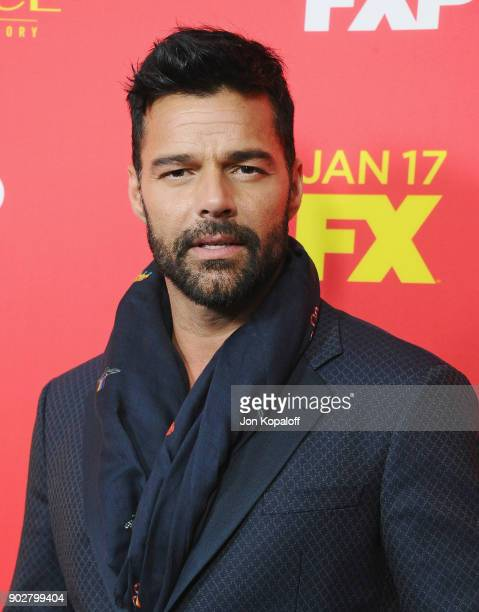Ricky Martin attends the Los Angeles Premiere The Assassination Of Gianni Versace American Crime Story at ArcLight Hollywood on January 8 2018 in...