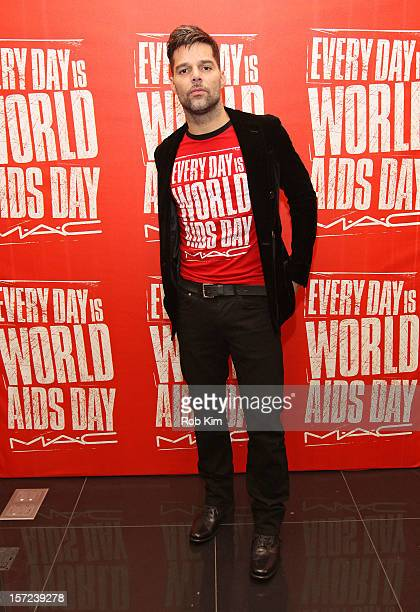 Ricky Martin attends the MAC VIVA GLAM kick off for World AIDS Day on November 30 2012 in New York City