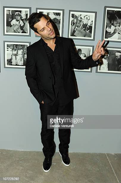 Ricky Martin attends the Moca Reception during Art Basel at the Museum of Contemporary Art on November 30 2010 in Miami Florida