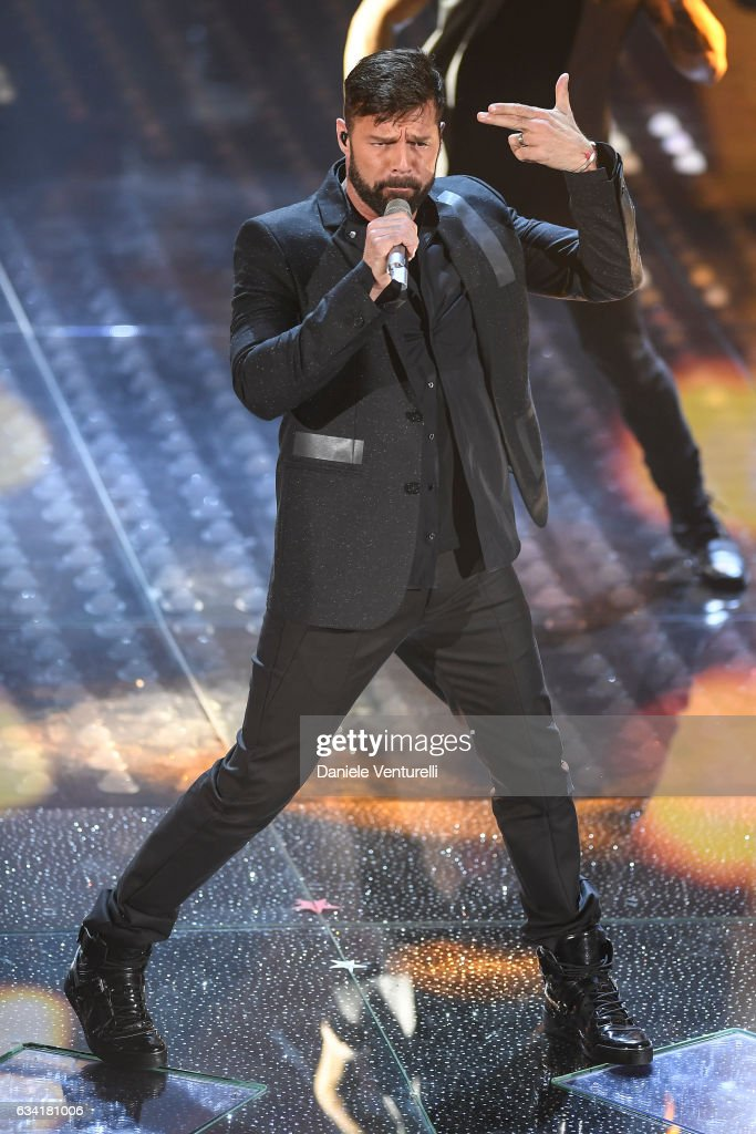 Ricky Martin attends the opening night of the 67th Sanremo Festival 2017 at Teatro Ariston on February 7, 2017 in Sanremo, Italy.