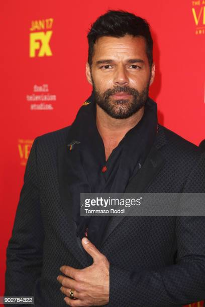 Ricky Martin attends the Premiere Of FX's The Assassination Of Gianni Versace American Crime Story at ArcLight Hollywood on January 8 2018 in...