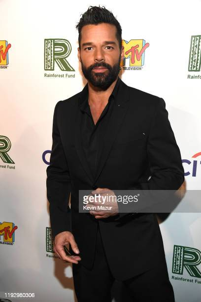 Ricky Martin attends The Rainforest Fund 30th Anniversary Benefit Concert Presents 'We'll Be Together Again' at Beacon Theatre on December 09, 2019...