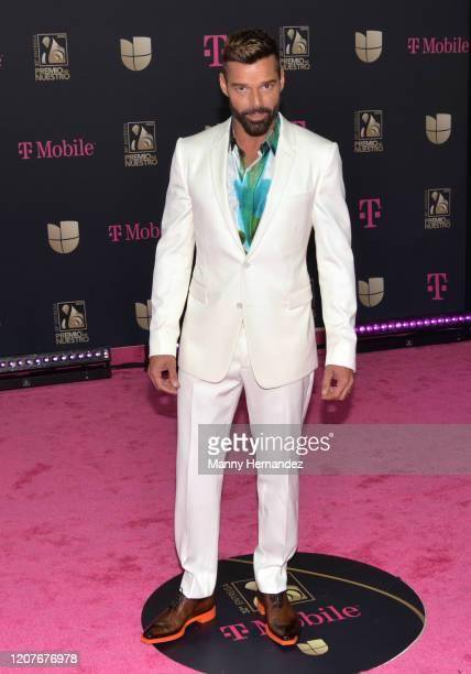 Ricky Martin attends Univision's Premio Lo Nuestro 2020 at AmericanAirlines Arena on February 20 2020 in Miami Florida