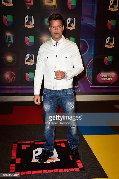 Ricky Martin attends Univision's Premios Juventud 2015 at Bank United Center on July 16 2015 in Miami Florida