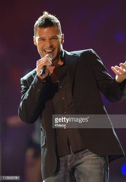 Ricky Martin during 10th Victoria's Secret Fashion Show Runway at The New York State Armory in New York City New York United States