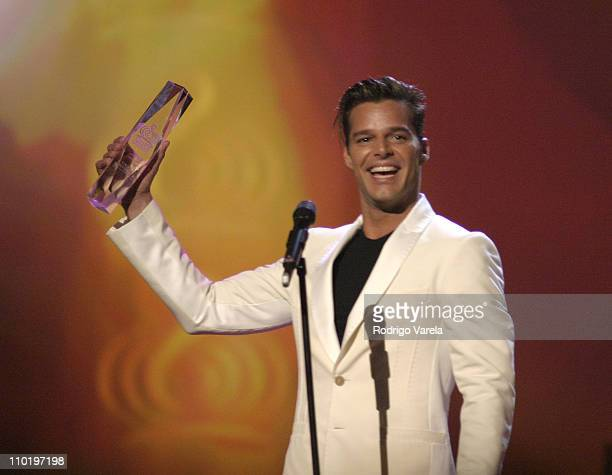 Ricky Martin during 2004 Premio Lo Nuestro Show at Miami Arena in Miami Florida United States