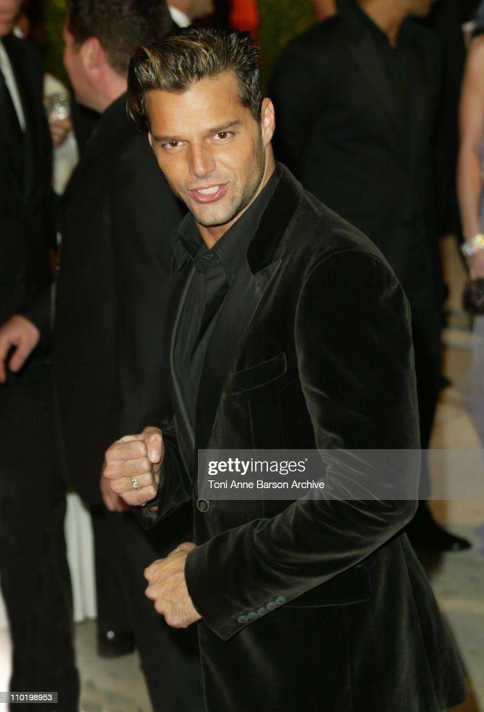 Ricky Martin during 2004 Vanity Fair Oscar Party - Arrivals at Mortons in Beverly Hills, California, United States.