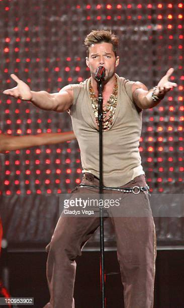 """Ricky Martin during """"Blanco Y Negro"""" Ricky Martin's Tour Opener in Puerto Rico - February 9, 2007 at Coliseo de Puerto Rico in San Juan, Puerto Rico,..."""