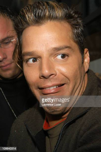Ricky Martin during Ricky Martin Arrives At Planet Hollywood at Planet Hollywood in New York New York United States