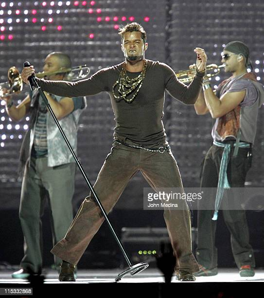 """Ricky Martin during Ricky Martin in concert on the """"Blanco Y Negro Tour 2007"""" at San Jose - April 17, 2007 at HP Pavilion in San Jose, California,..."""