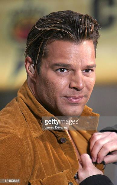 Ricky Martin during Ricky Martin Performs on 'The Today Show' Summer Concert Series May 21 2003 at NBC Studios Rockafeller Plaza in New York City New...