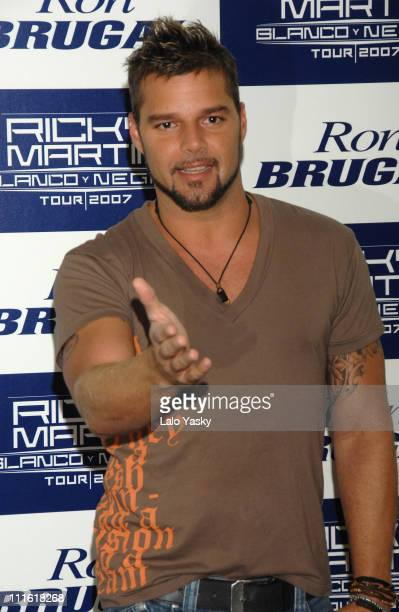 """Ricky Martin during Ricky Martin Presents """"Blanco y Negro"""" 2007 Spanish Tour - Madrid Photocall at ME Hotel in Madrid, Spain."""