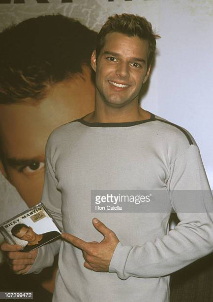 Ricky Martin during Ricky Martin Promotes His Self-Titled Album at Tower Records in New York City - May 11, 1999 at Tower Records in New York City,...