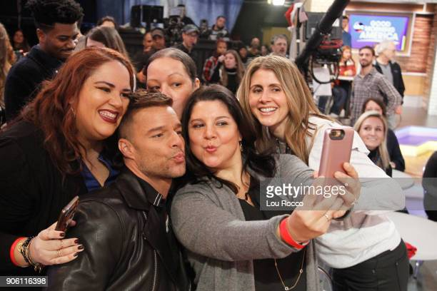 AMERICA Ricky Martin is a guest on 'Good Morning America' Wednesday January 17 2018 on the ABC Television Network RICKY