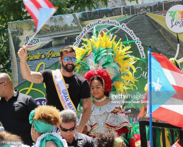 Ricky Martin is seen at the 2019 Puerto Rican Day Parade on June 09 2019 in New York City