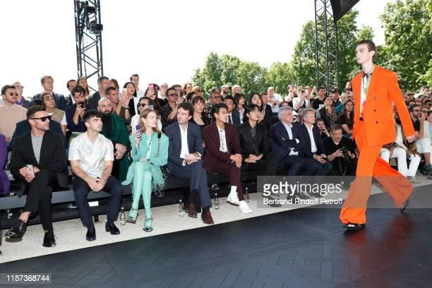 Ricky Martin Joe Jonas Natalia Vodianova General manager of Berluti Antoine Arnault Eddie Peng Lee Min Ho and Chief Executive Officer of LVMH Fashion...