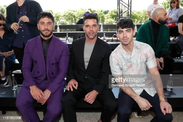 Ricky Martin, Jwan Yosef and Joe Jonas attend the Berluti Menswear Spring Summer 2020 show as part of Paris Fashion Week on June 21, 2019 in Paris,...