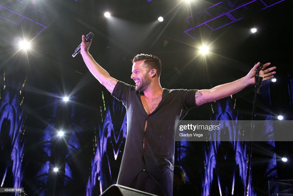Ricky Martin performs at Draco & Friends Concert at Coliseo de Puerto Rico on December 6, 2013 in San Juan, Puerto Rico.