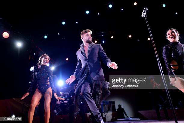 Ricky Martin performs at the Unicef Summer Gala Presented by Luisaviaroma dinner at Villa Violina on August 10 2018 in Porto Cervo Italy
